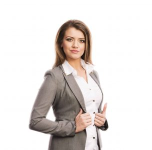 Businesswoman standing in a position of authority. Do you struggle with pride in your life?