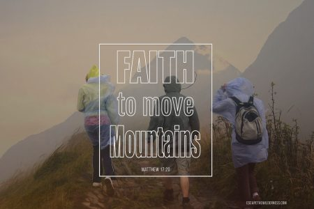 Hikers climbing a moutain with Strong Faith in God to make it through