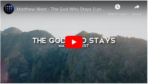 YouTube Video by Matthew West The God Who Saves