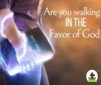 A woman walking confidentally with her bible, lightning bolts of power coming from the bible