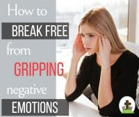 Worried woman gripped by her emotions