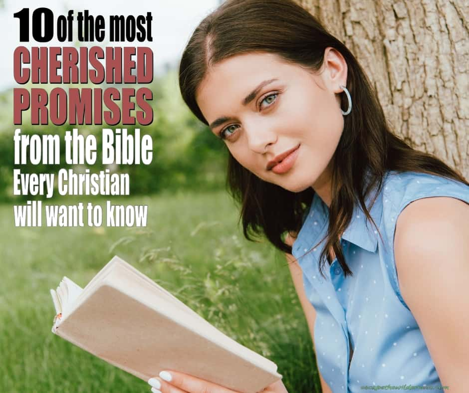 Woman reading 10 of the most cherished Promises of God from the Bible